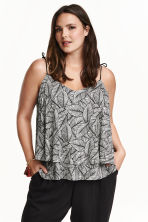 H&M+ Jersey top - Black/Leaf - Ladies | H&M CN 1