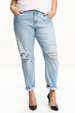 H&M+ Boyfriend Low Jeans - Light denim blue - Ladies | H&M CN 1