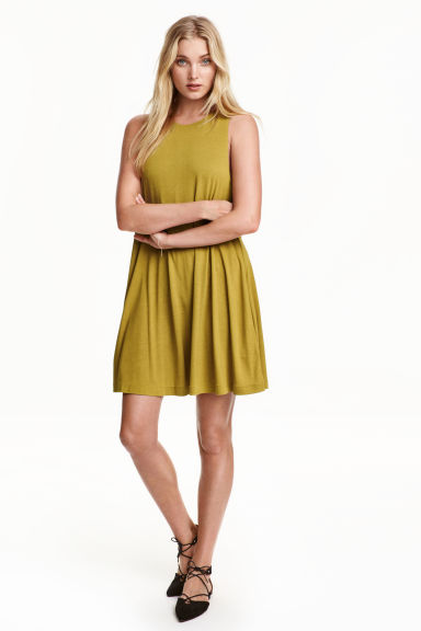 A-line dress - Olive green - Ladies | H&M CN 1