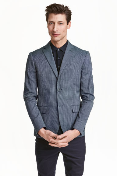 Jacket in premium cotton - Dark blue - Men | H&M CN 1