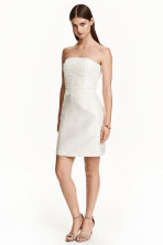 Dress with lace bodice - White - Ladies | H&M CN 1