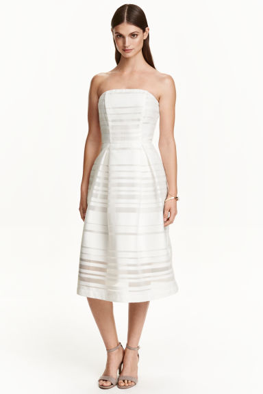 Strapless dress - White - Ladies | H&M CN 1