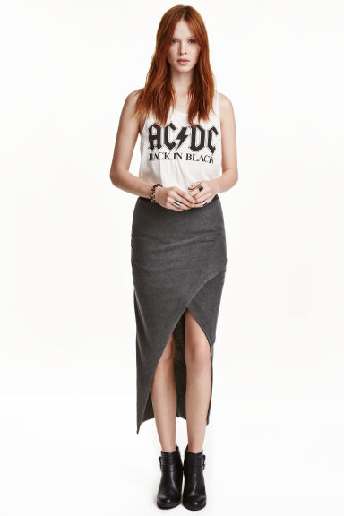 Wrap skirt - Dark grey - Ladies | H&M GB