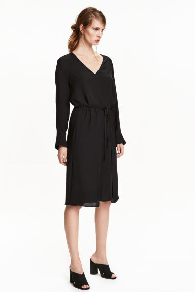 Viscose dress - Black - Ladies | H&M CN 1