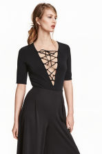Body with lacing - Black - Ladies | H&M CN 1