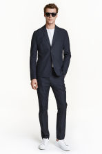 Pima cotton suit trousers - Dark blue - Men | H&M CN 1