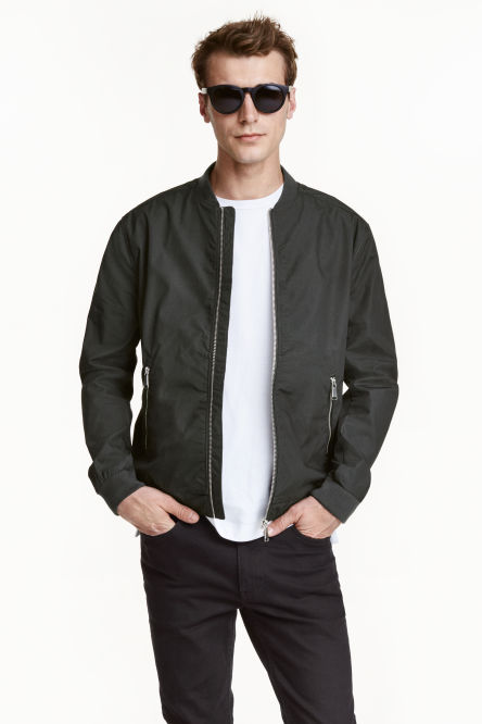Cotton canvas bomber jacket