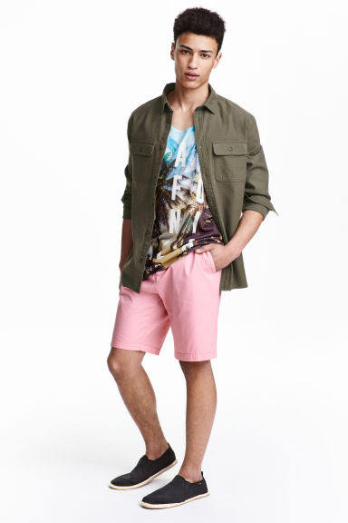 Cotton shorts - Light pink - Men | H&M CN 1