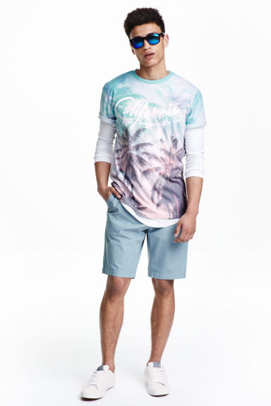 Cotton shorts - Blue - Men | H&M CN 1