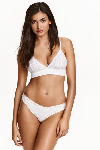 Microfibre half-string briefs - White - Ladies | H&M CN 1