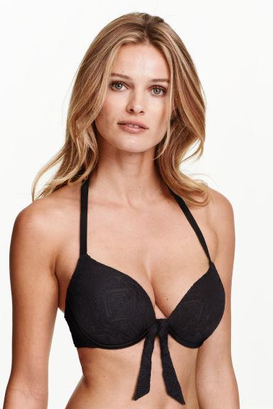 super push up bikini top black lace h m gb. Black Bedroom Furniture Sets. Home Design Ideas