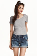 Shorts di jeans Low waist - Blu denim scuro - DONNA | H&M IT 1
