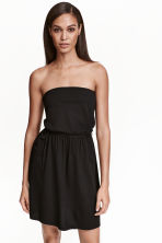 Strapless jersey dress - Black - Ladies | H&M CN 2