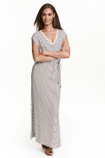 Jersey maxi dress - White/Striped - Ladies | H&M CN 1