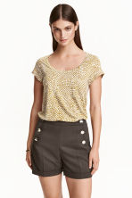 Jersey top - Olive green/Patterned - Ladies | H&M CN 1