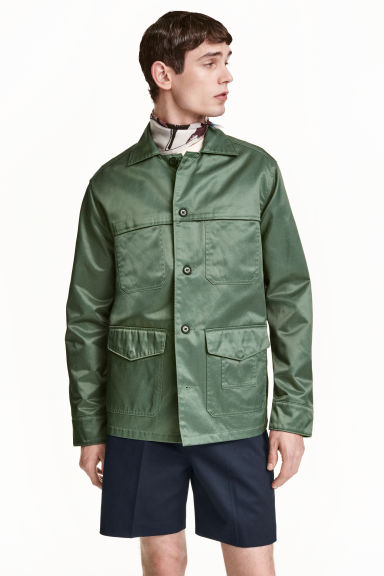 Cargo jacket - Khaki green - Men | H&M CN 1