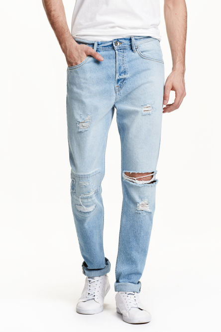 Tapered Low Trashed Jeans