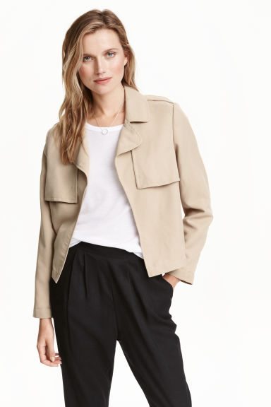 Short trench jacket - Light beige - Ladies | H&M GB