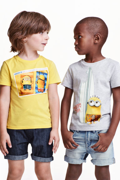 2-pack printed T-shirts - Yellow/Minions - Kids | H&M CN 1