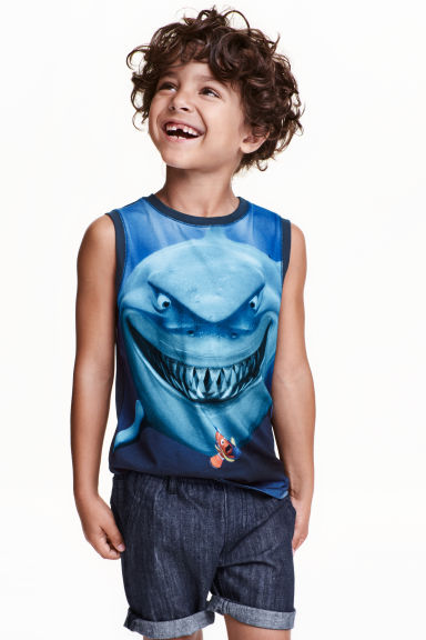 Printed vest top - Dark blue/Finding Nemo - Kids | H&M CN