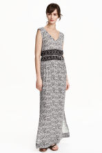 Patterned maxi dress - Natural white - Ladies | H&M CN 1