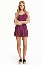 Jersey playsuit - Burgundy - Ladies | H&M CN 1