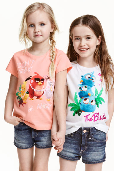 2-pack jersey tops - White/Angry Birds - Kids | H&M CN 1