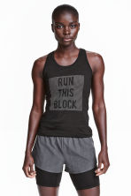 Running shorts - Dark grey/Black - Ladies | H&M CN 1