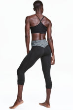 3/4-length yoga tights - Black - Ladies | H&M CN 1