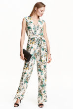 Patterned jumpsuit - Natural white/Tiger - Ladies | H&M CN 1