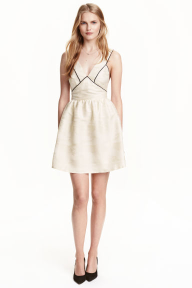 Jacquard-weave dress - Natural white - Ladies | H&M CN 1