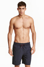 Knee-length swim shorts - Dark blue - Men | H&M CN 1