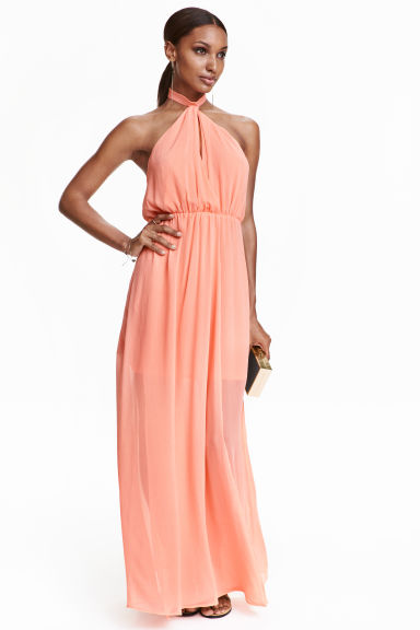 Halterneck dress - Light coral - Ladies | H&M CN 1
