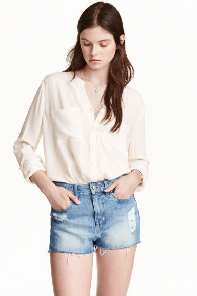 V-neck blouse - White - Ladies | H&M GB 1