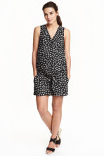 MAMA Patterned playsuit - Black/Zebra - Ladies | H&M CN 1
