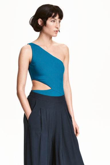 One-shoulder body - Blue - Ladies | H&M CN 1