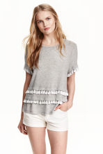 Top in jersey - Grigio mélange - DONNA | H&M IT 1