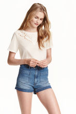 Jersey top - Natural white - Ladies | H&M CN 1
