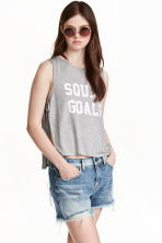 Top with side-ties - Grey marl - Ladies | H&M CN 1