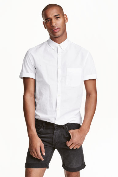 Short-sleeved shirt - White - Men | H&M CN 1