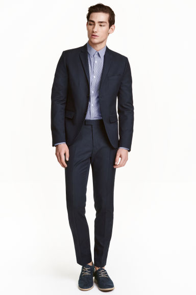 Suit trousers Slim fit - Dark blue - Men | H&M 1