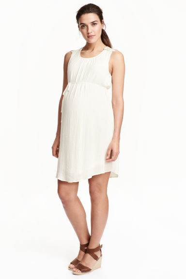 MAMA Sleeveless dress - Natural white - Ladies | H&M CN 1