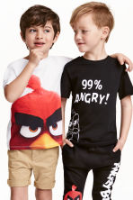 T-shirt, 2 pz - Nero/Angry Birds - BAMBINO | H&M IT 1