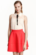 Flared skirt - Coral red - Ladies | H&M CN 1