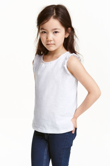 Top à volants - Blanc - ENFANT | H&M FR 1