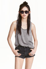 Marled jersey vest top - Grey/Burnout - Ladies | H&M CN 1