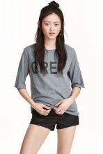 Printed T-shirt - Grey - Ladies | H&M CN 1