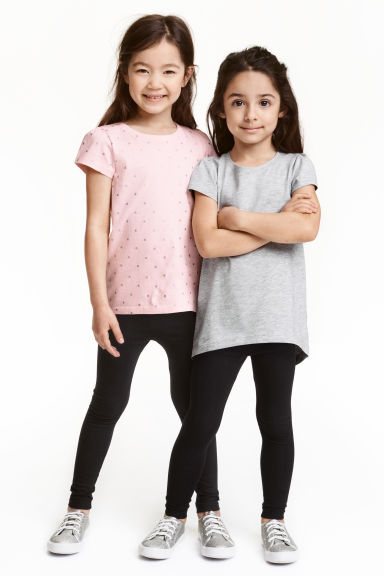 2-pack leggings - Black - Kids | H&M CN