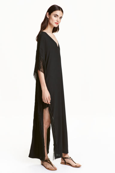 Fringed kaftan - Black - Ladies | H&M CN