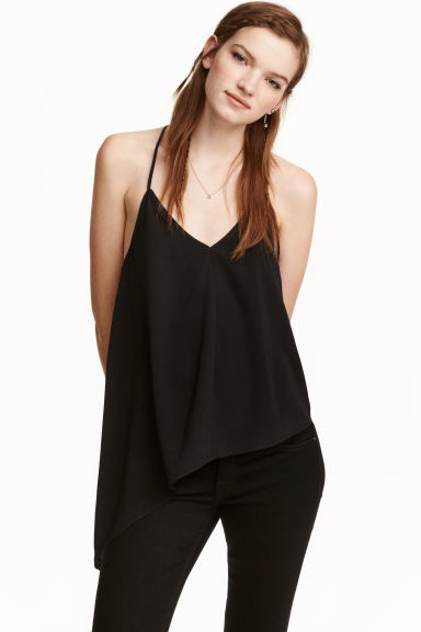 Asymmetric top - Black - Ladies | H&M CN 1